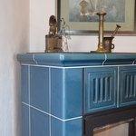 AFRODITA diana, modrozelená KK 816, hranaté nohy, haranatý roh